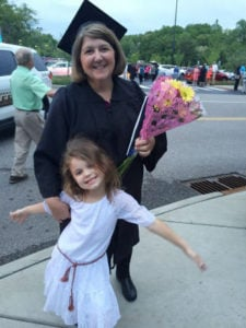 Margaret Anderson at graduation with her granddaughter